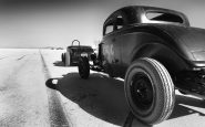 "Flashback in time at Bonneville. Stumbling onto the film set for ""World's Fastest Indian"""