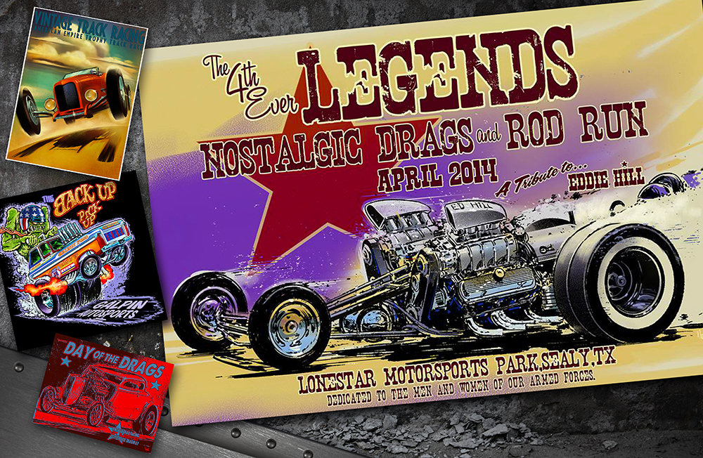Hot Rod T Shirts >> Hot Rod artist Jeff Norwell combines traditional hot rod, drag racing, and '50's - '60's style ...