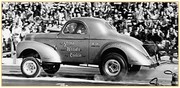The iconic Stone, Woods and Cook Willys Gasser  The NHRA's all time